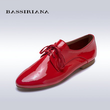 Buy Flats shoes woman Patent leather Round toe Basic model Red yellow Blue Silver Sheepskin 35-40 Free BASSIRIANA for $57.50 in AliExpress store
