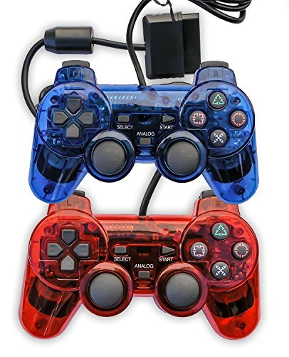 Hot Sales Wired Clear Controller Game Pad Game Gaming Controller Joypad Gamepad Console Joysticks for Playstation 2 PS2(China (Mainland))
