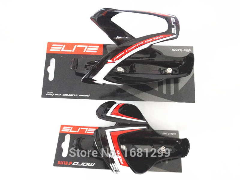 Newest ELITE pasa moro Road bicycle full carbon water bottle cages Mountain bike carbon bottle holders with cardboard Free ship(China (Mainland))