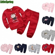 Autumn&spring Children clothing Sets Baby boys Sets Kids tracksuits cotton dinosaur/monkey/bear/horse sweatshirts/coats+trousers(China (Mainland))