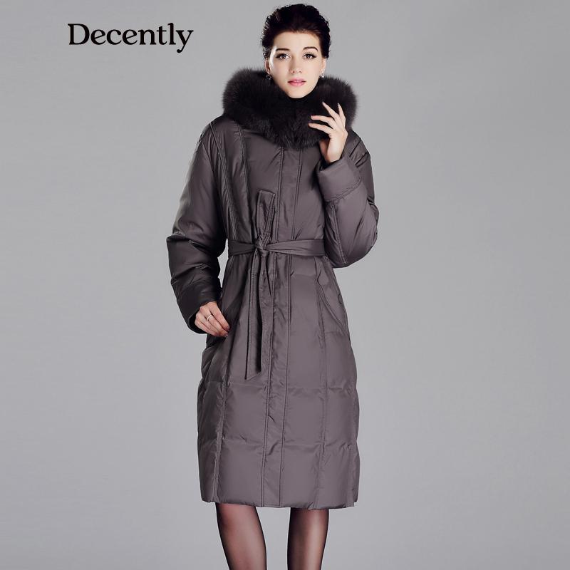 DECENTLY New arrival Mother Parka Fox Fur Winter Jacket Women 5XL 6XL 60 62 64 plus size Woman Coat Down jacket 3C1684(China (Mainland))