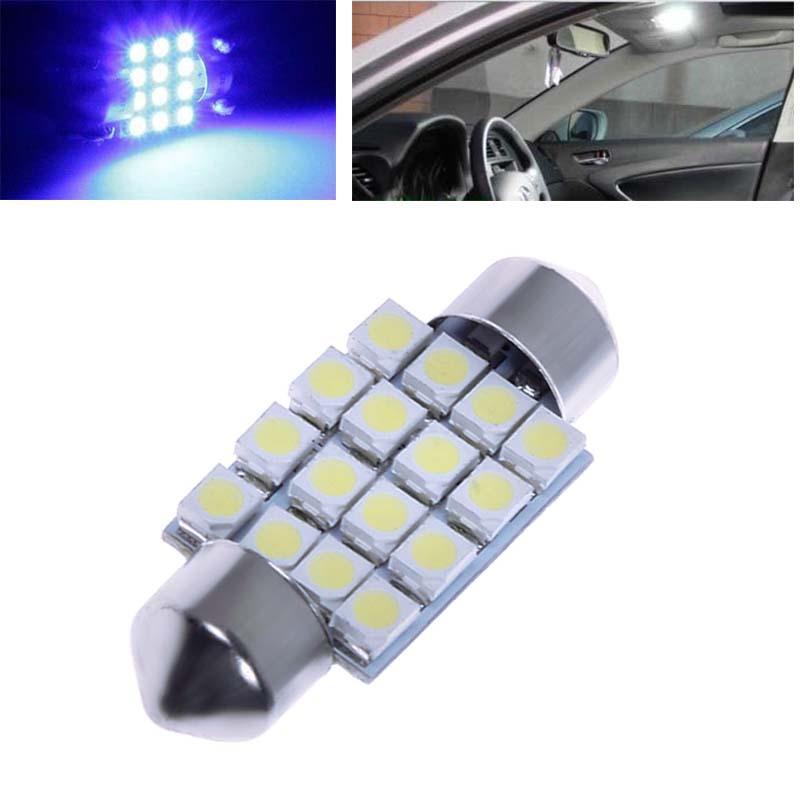 2x 36MM 16 SMD 3528 Car Interior Dome Festoon LED Light Bulbs Lamp White 12V 57211