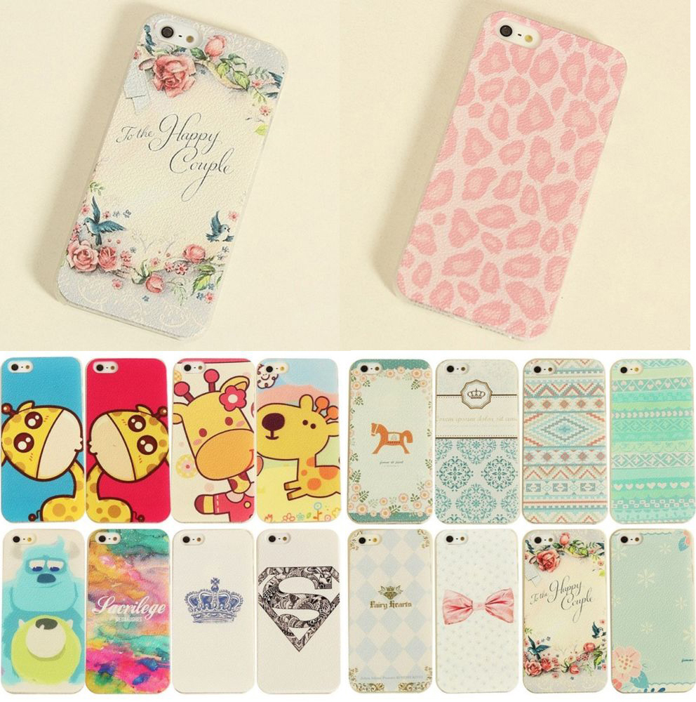 Hot sale!!!New Painted Various Pattern Phonen Scrub Back Case Cover For IPhone 5/5S Water/Dirt/Shock Proof(China (Mainland))