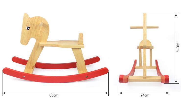 Super gran caballo de oscilaci n de madera para ni os - Caballito de madera ikea ...