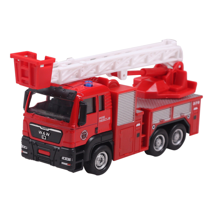 Model toys Aerial ladder fire truck engineering van kids dream high quality hot sale EXTREMELY creative(China (Mainland))