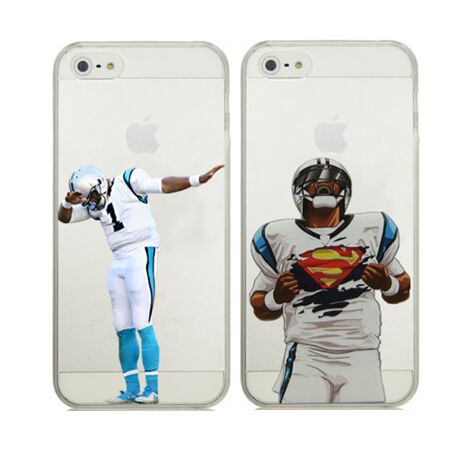 For iPhone 6 6S Carolina Panthers Cam Newton Superman Dab Dance Football Player Clear Plastic Case(China (Mainland))