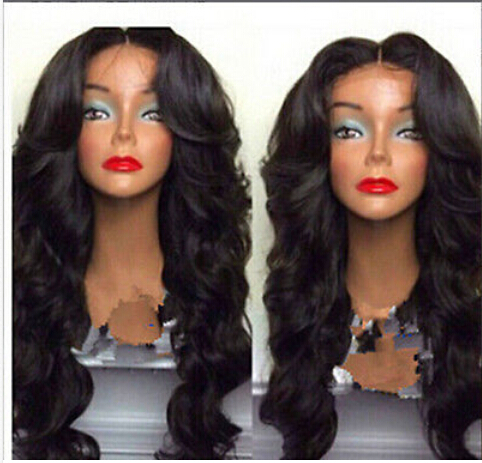 Unprocessed synthetic hair dark brown glueless wigs black women+Free Wig Cap - Online Store 332059 store