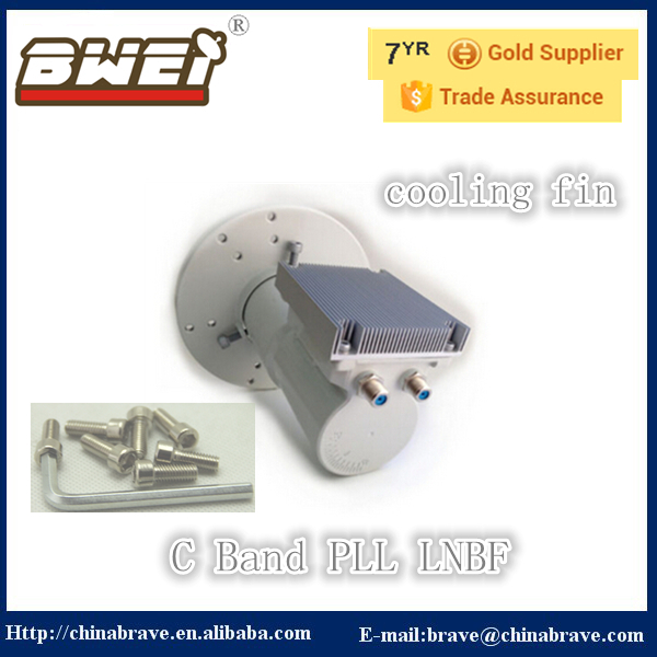 c band PLL LNB with cooling fin dual output(China (Mainland))