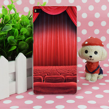 B3985 Theatre Seats Red Curtain Transparent Hard Thin Case Skin Cover For Huawei P 6 7 8 9 Lite Plus Honor 6 7 4C 4X G7(China (Mainland))