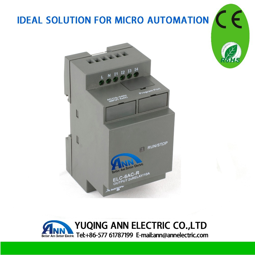 ELC-6AC-R without cable Programmable logic controller,smart relay,Micro PLC controller , CE ROHS(China (Mainland))