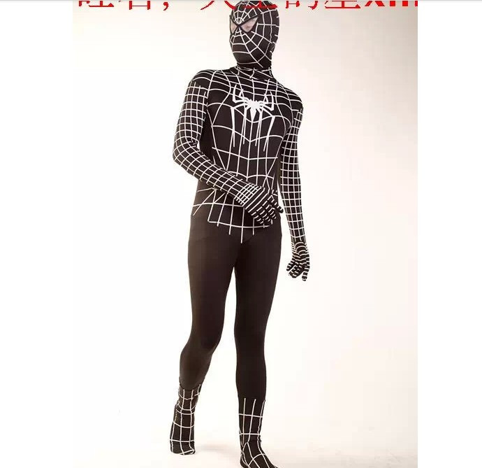 DB23728 Black spiderman costume-8