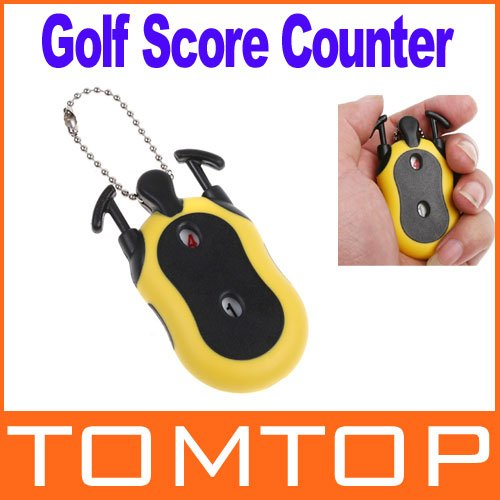 new arrival Mini Golf Stroke Shot Putt Score Counter Keeper with Key Chain H8352 Freeshipping Dropshipping Wholesale(China (Mainland))