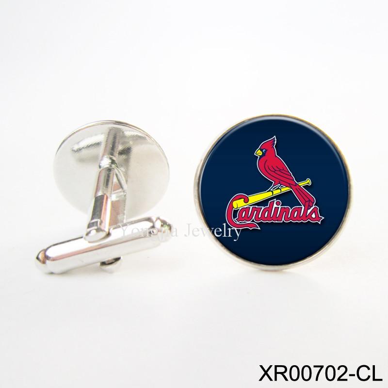 St. Louis Cardinals Cufflinks Romantic shirt cufflinks for men Copper Cuff Links Men Shirt Cuffs Button MLB Baseball Cufflinks(China (Mainland))