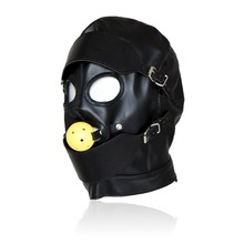 Buy adult sex products leather sex mask open mouth gag head bondage mask bdsm fetish mask sex toys couples for $17.58 in AliExpress store