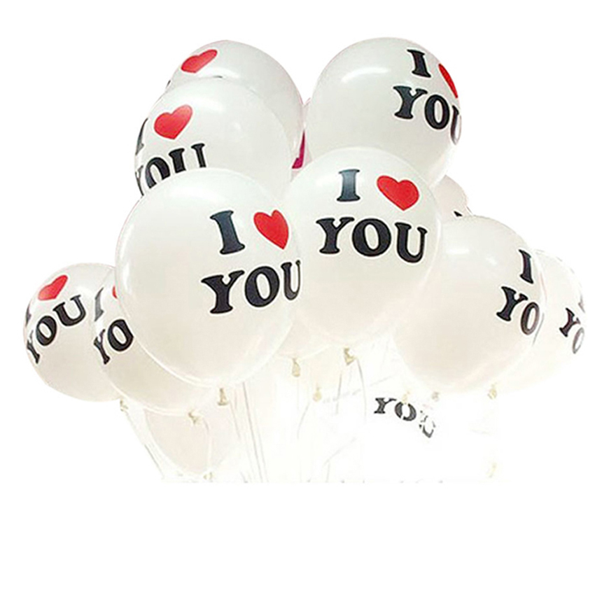 JECKSION Good Quality 10pcs/lot Free Shipping 12 inch Pearl Latex Balloon I LOVE YOU Balloons Christmas Wedding Decorations(China (Mainland))