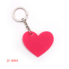 (200 pieces/lot) Pink Heart OEM Factory Promotion Keychain Cheap Item Custom Design Acrylic Keychain Kids Promotion Keychain(China (Mainland))