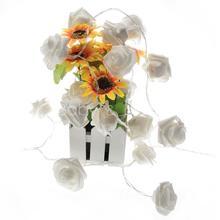 Novelty LED Strip Light 20 LED Warm White Battery Rose Party Christmas 2.1m 2 Modes Free Shipping(China (Mainland))
