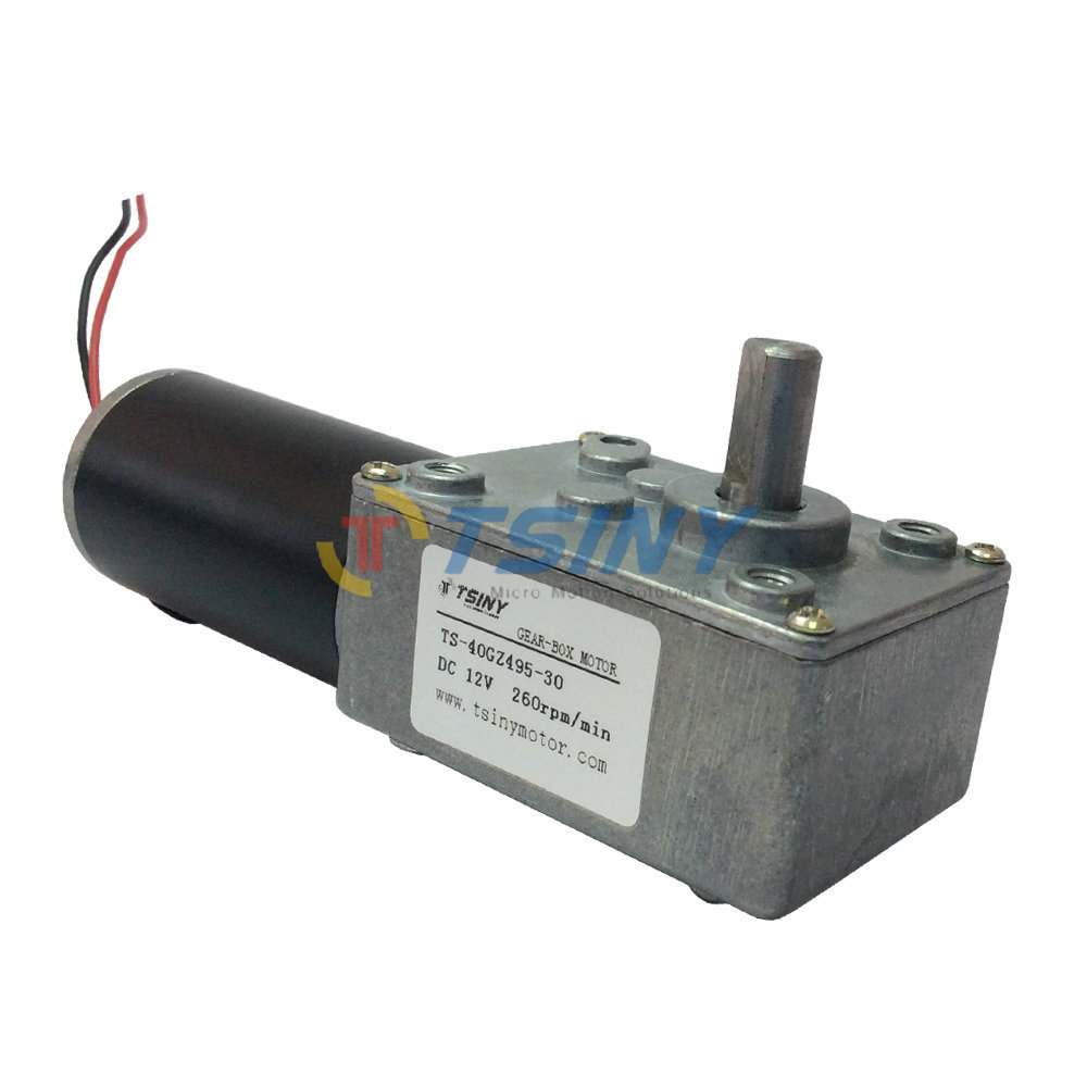 High speed 12V Electric 260rpm DC Worm Gear Gearwheel Motor With Self-locking,Geared Motor, Free Shipping(China (Mainland))