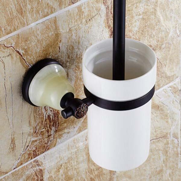 Купить Масло Втирают Бронзовый Настенные Ванная Туалет Матовый Держатель Вт/Керамическая Чашка