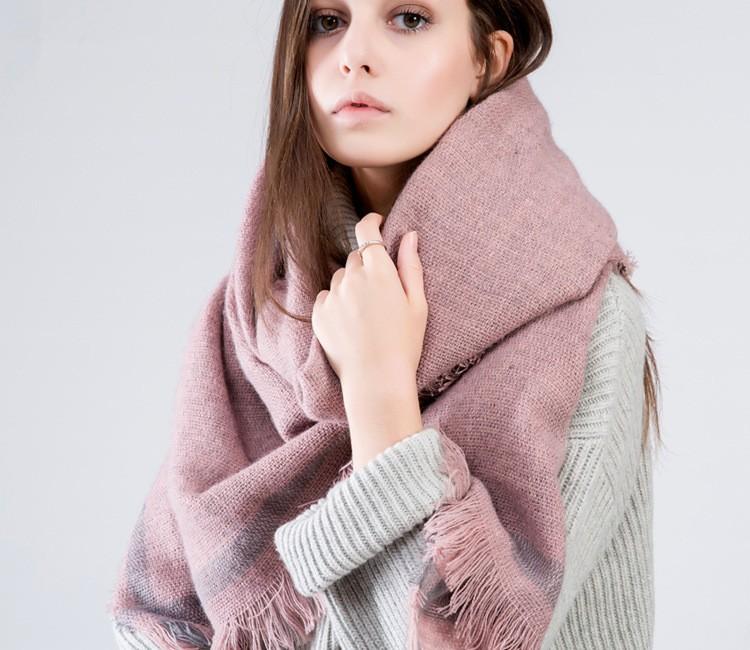 Winter New 2016 Tartan Scarf Desigual Solid Cuadros New Luxury Brand Unisex Blanket Shawls Pashmina Women's Scarves PHS29D