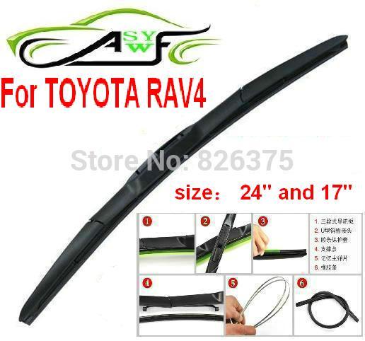 toyota rav4 1995 длина стеклоочистителей