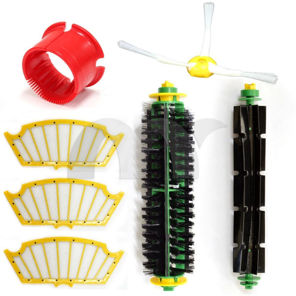 Vacuum Cleaner Replenishment Filter Kit For iRobot Roomba 500 Series 510 530 532 535 540 550 560 555 562 570 572 580 581 590 610(China (Mainland))