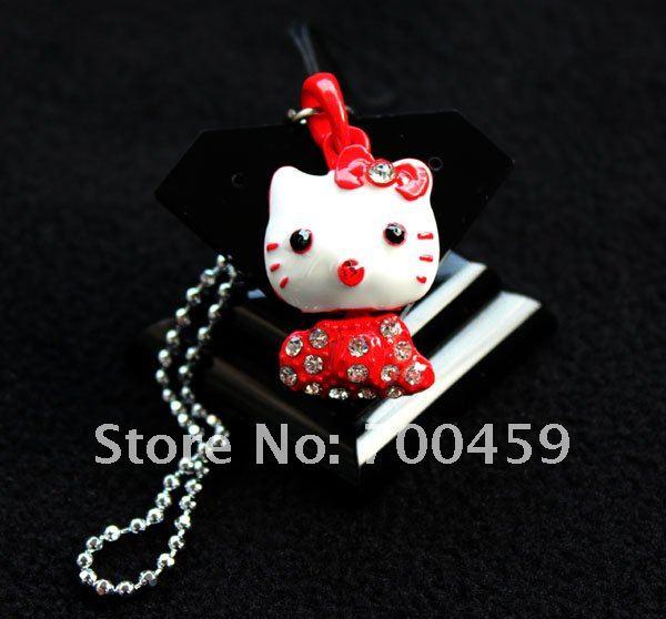 Wholesale - New 500 pcs hello kitty 3D Creative Phone charms +Free Shipping(China (Mainland))