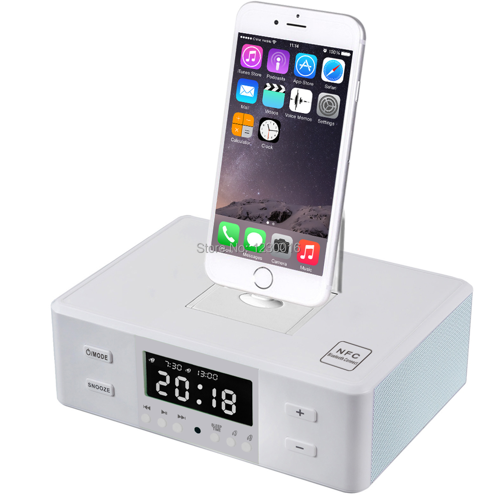 The world's first ternion rotating Universal Multi Charging Docking Station NFC Speaker With Remote Control For iPhone Samsung(China (Mainland))