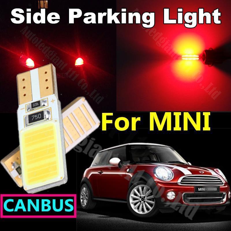 2x T10 Car Light Source COB Led W5W Bulb Mini Convertible Mini One/Cooper/Cooper S Side Parking Light Canbus Error Free White(China (Mainland))