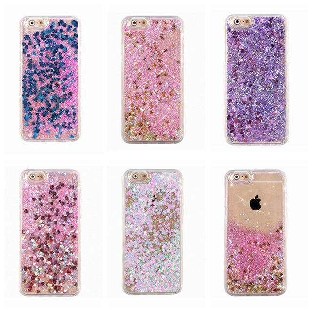 Dynamic Liquid Glitter Sand Quicksand Star Bling Case Cover For Apple iPhone 6 6s plus 6 plus 5 5S SE 4 4s Cell Phone Cases(China (Mainland))
