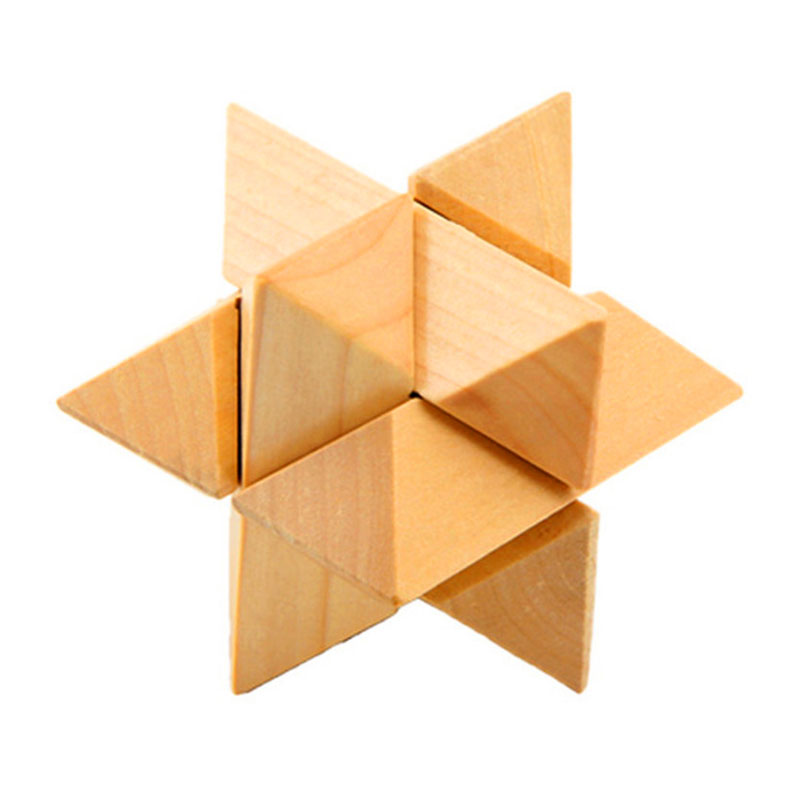 Kong Ming Luban Lock Chinese Traditional Toy for children Classical Intellectual Wooden Cube Educational Toy Unique 3D Puzzles(China (Mainland))