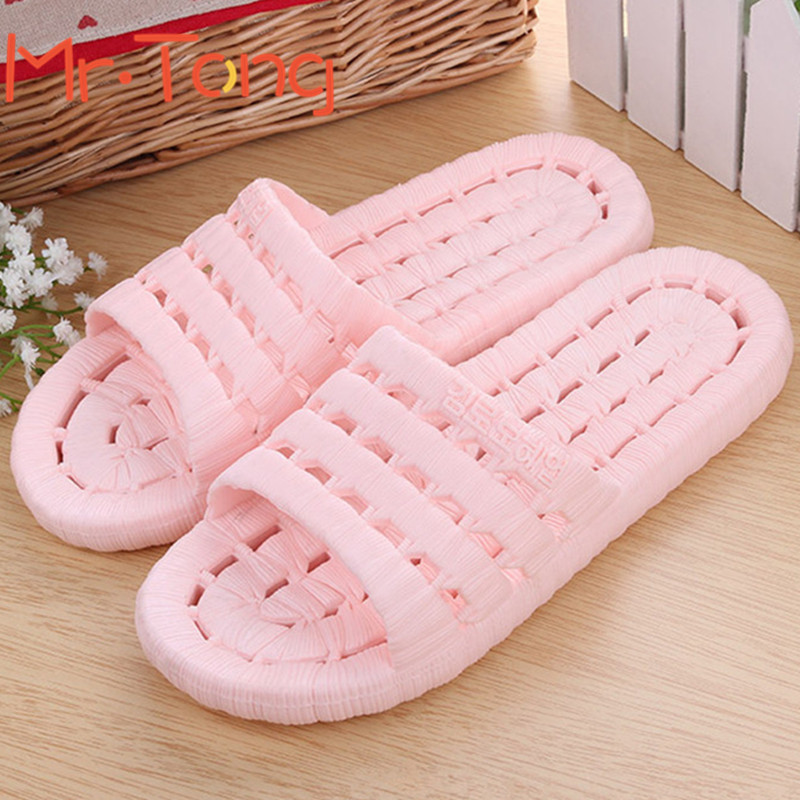 Wholesale Summer Women Indoor Floor Slippers Soft Sole Flats Home Shoes Bathroom Antiskid Thicken Casual Ladies Massage Slippers<br><br>Aliexpress