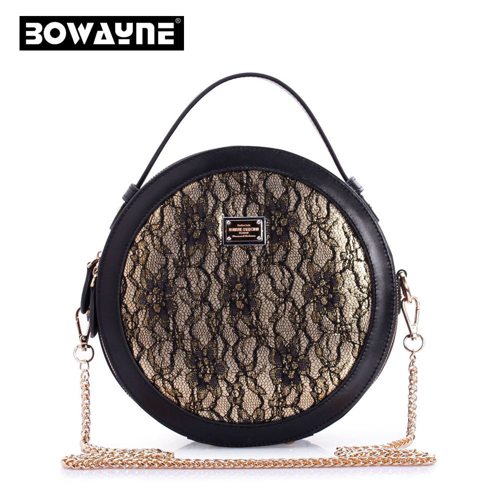 Luxury women Fashion Chain shoulder bag Multifunction Stereotypes Round Bags Leather cowhide Messenger Bag Cosmetic handbag<br><br>Aliexpress