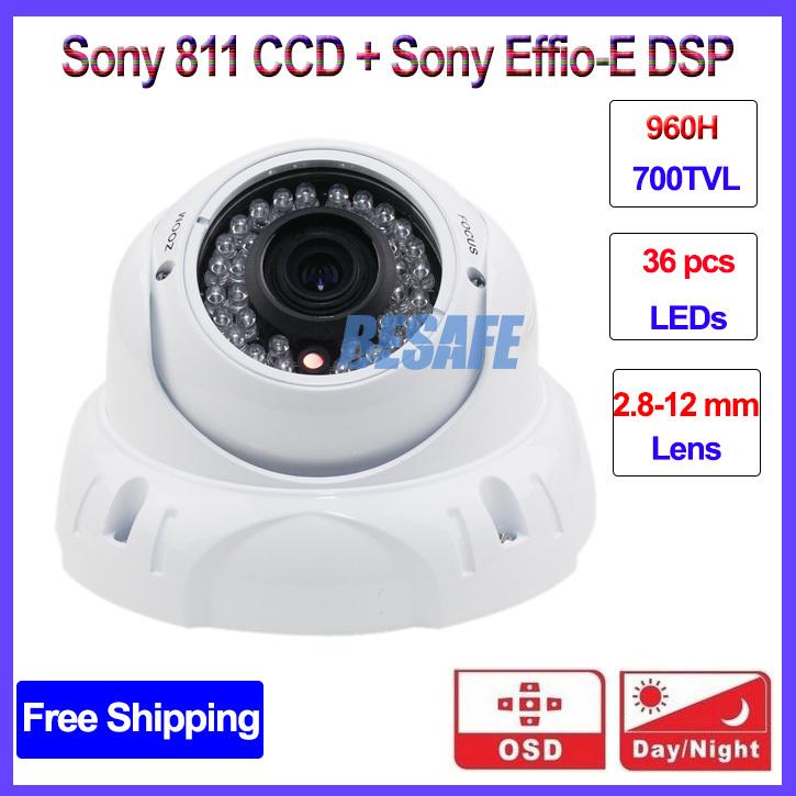 Здесь можно купить  video surveillance camera 700TVL Vandalproof 960H Effio-E cctv cameras varifocal lens Smart IR OSD DWDR SONY CCD, free shipping  Безопасность и защита