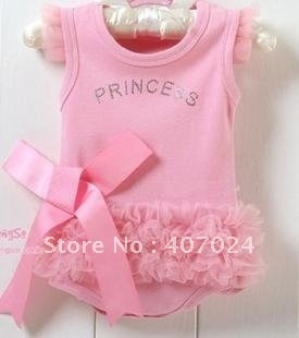 short sleeve baby rompers baby romper princess baby clothing  infant romper suit