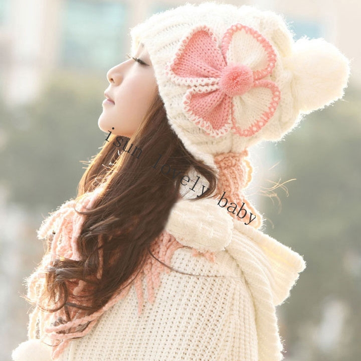 Knitting Patterns Ladies Winter Hats : 2015 New Girls Ladies winter hats Knit Warm winter hats ...