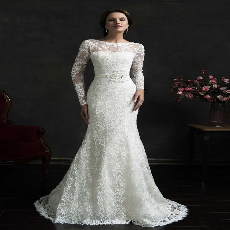 Plus size wedding dresses cheap with sleeves plus size for Wedding dress plus size cheap