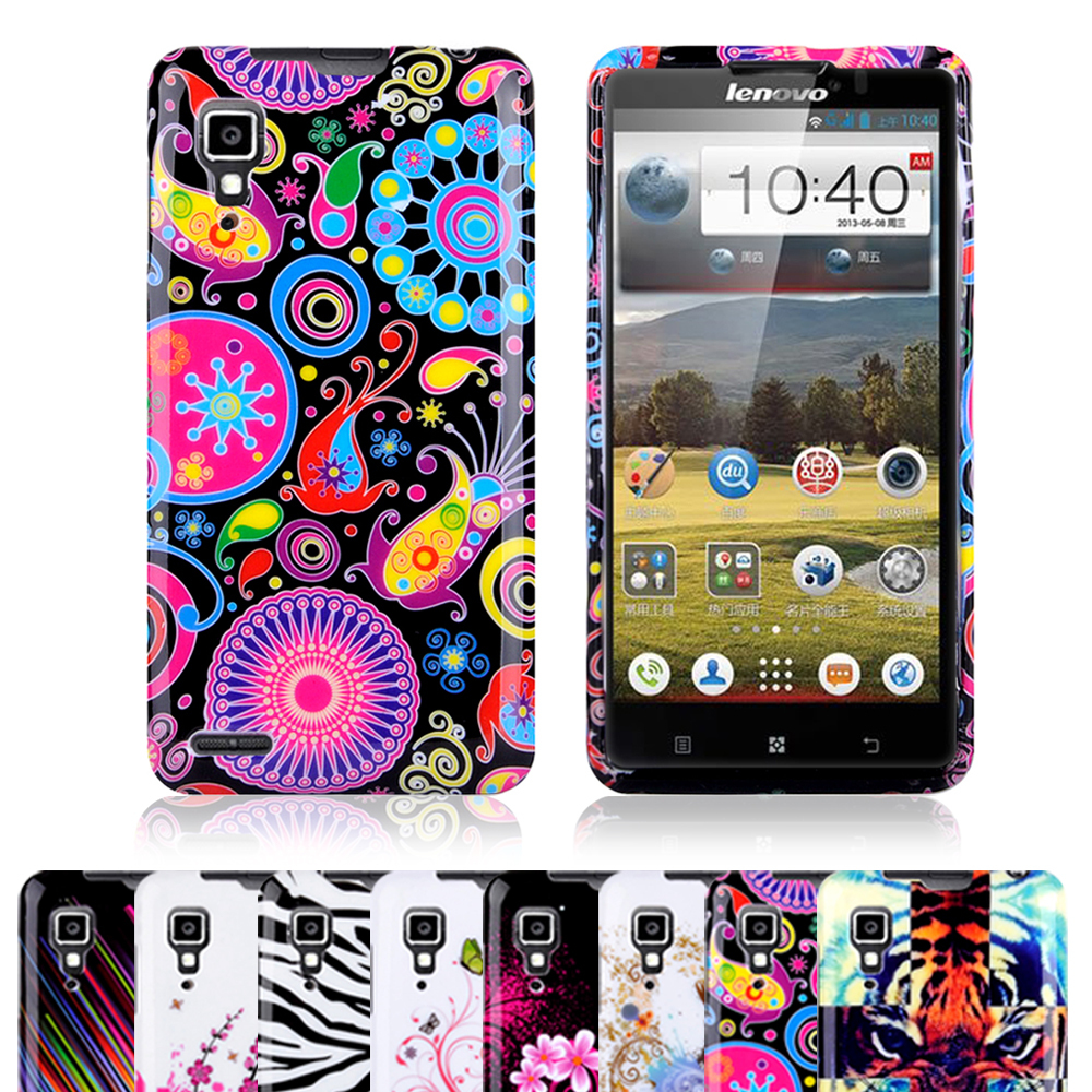 1 Pcs ! Fashionable Design Printing Soft Butterfly Flower Design Cell Phones Case Cover Skin For Lenovo P780(China (Mainland))