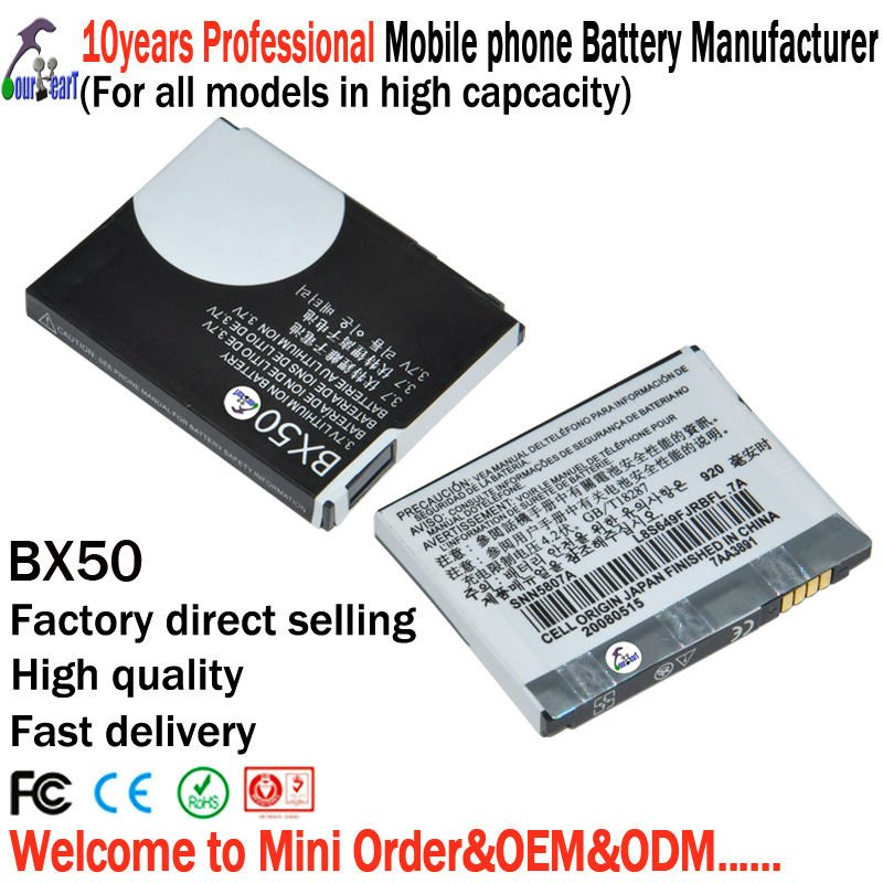 10 pieces/lot BX50 for Motorola phone battery with high capacity battery free shipping(China (Mainland))