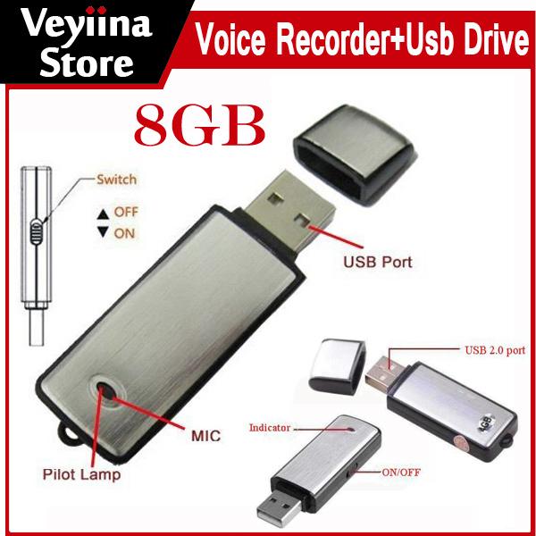 Цифровой диктофон IME 2 in1 8 II + USB /8 Voice recorder