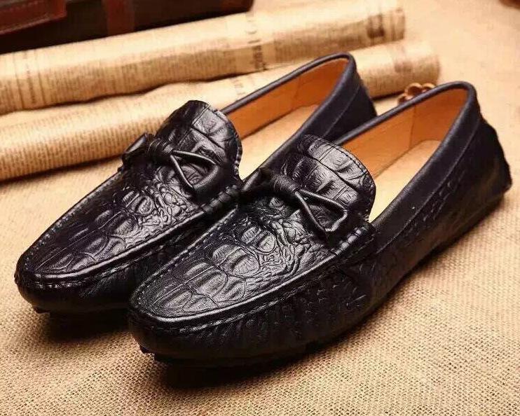 Luxury brand alligator men casual shoes cowhide men leather shoes slip on black driving shoes men oxfords<br><br>Aliexpress