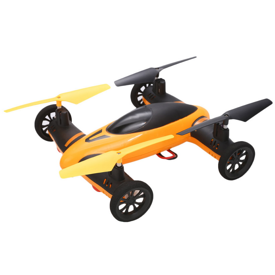 New Orange 4CH 6-Axis Helicopter 2.4GHz Sky Land Car RC Quadcopter 360 Degree Drone With Remote Control BD
