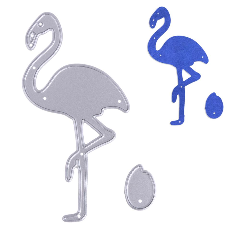New Flamingo Metal Die cutting Dies For DIY Scrapbooking Photo Album Decorative Embossing Folder Stencil 4.1 x 8.4cm