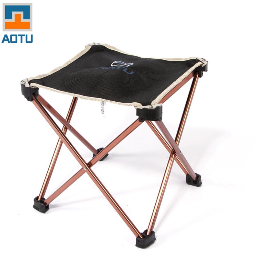 Outdoor Foldable Folding Fishing Picnic BBQ Garden Chair Tool Square Camping Stool 7075 Aluminium Alloy Brand New(China (Mainland))
