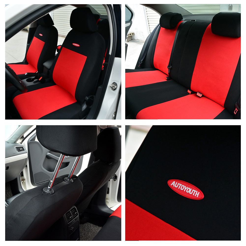 High Quality Car Seat Covers Universal Fit Polyester 3MM Composite Sponge Car Styling lada car covers