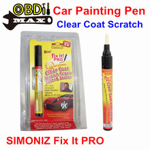 SIMONIZ Fix It Pro Car Painting Pen Repair Tool Clear Coat Scratch Filler Sealer Waterproof Remover Applicator With Retail Box(China (Mainland))