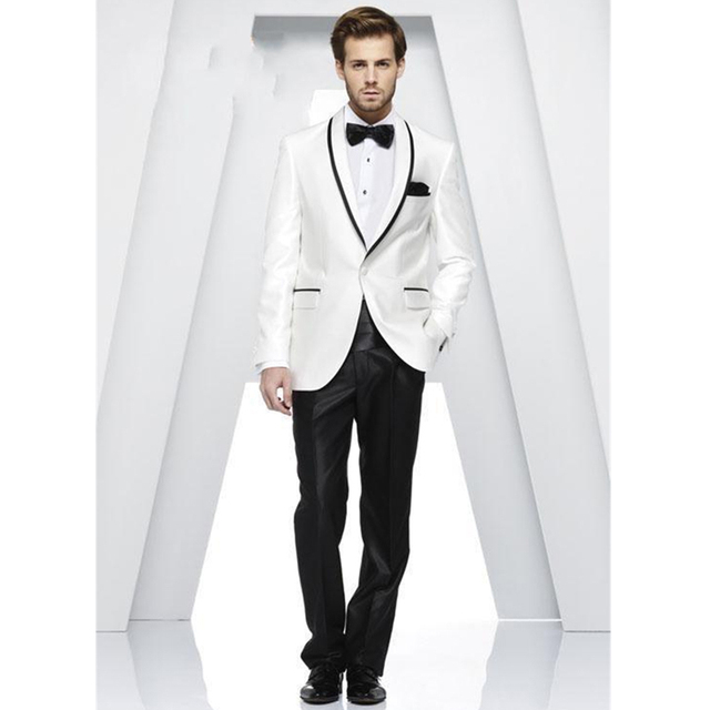 Comprar blanco negro hombres traje novio for Trajes de novio blanco para boda