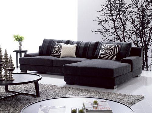 Fabric Living Room Lounge Fabric Sofa Set Sectional Sofa