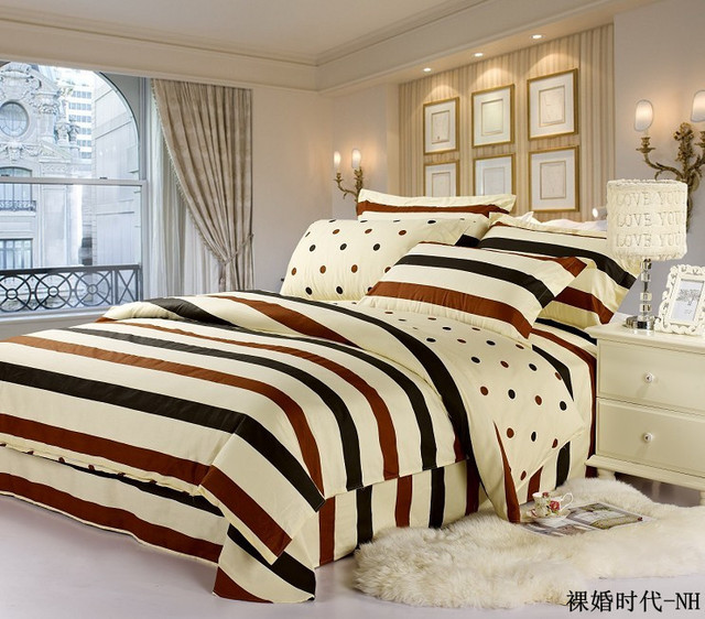 Minimalist Fashion Bedding Naked marriage age series 4 pcs one set Twill cotton Bed linen Quilt cover Small order Wholesale