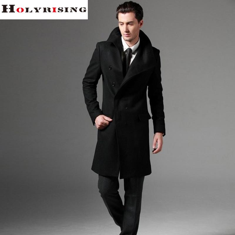 S-3XL large size men wool coat long coat woolen coat erkek mont cappotto abrigo hombre peacoat(China (Mainland))
